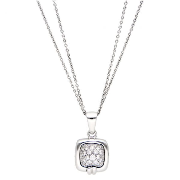 White gold necklace with diamond