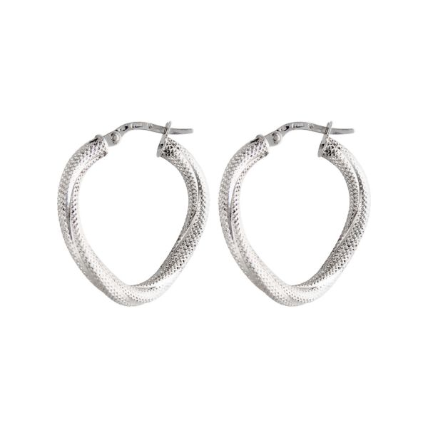 Kreis-Ohrringe aus Weißgold