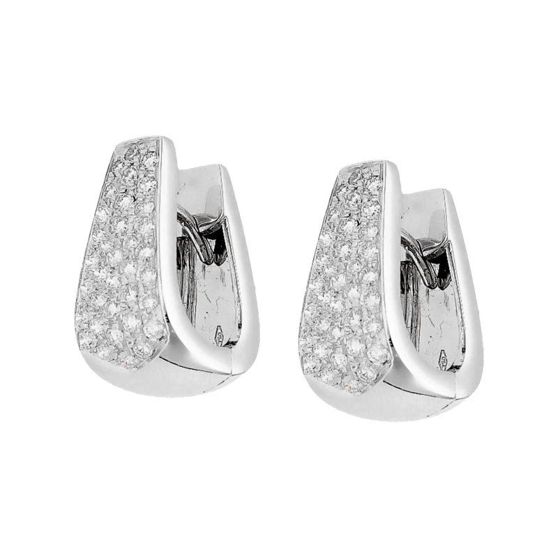 Weißgold Ohrringe mit Diamanten