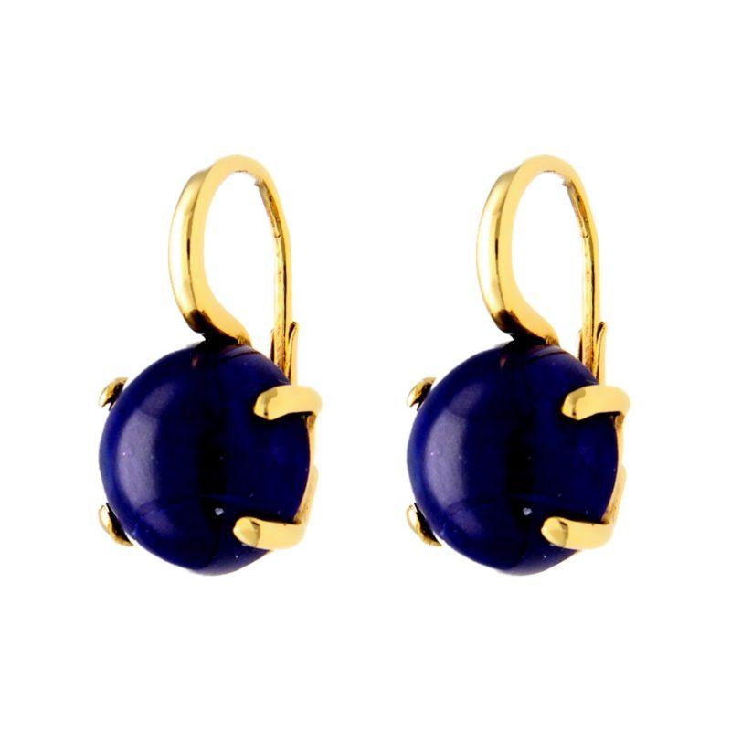 Ohrringe aus Gelbgold mit Lapislazuli