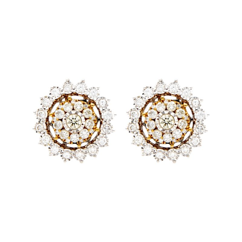 Star earrings with diamonds