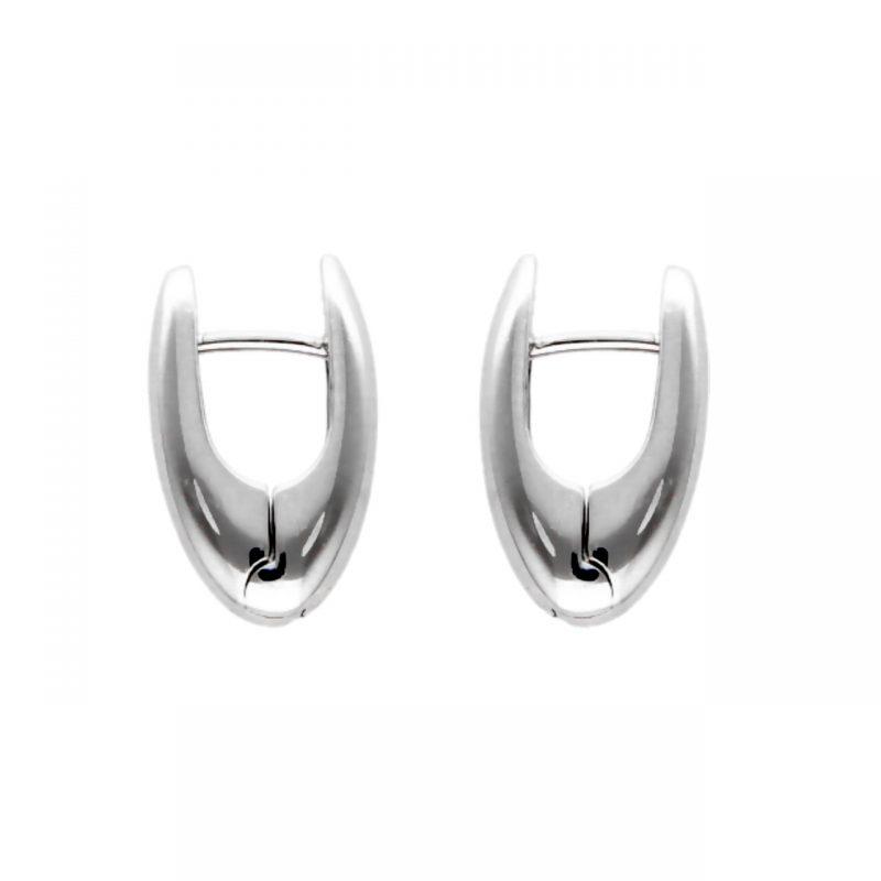 Clips Weißgold Ohrringe