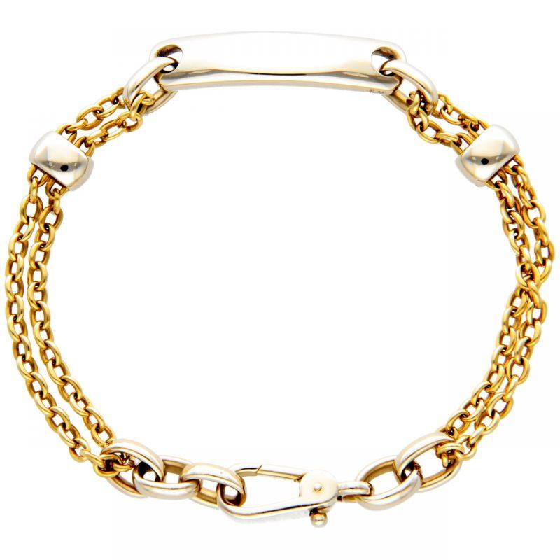 Armband aus Weiß- und Gelbgold