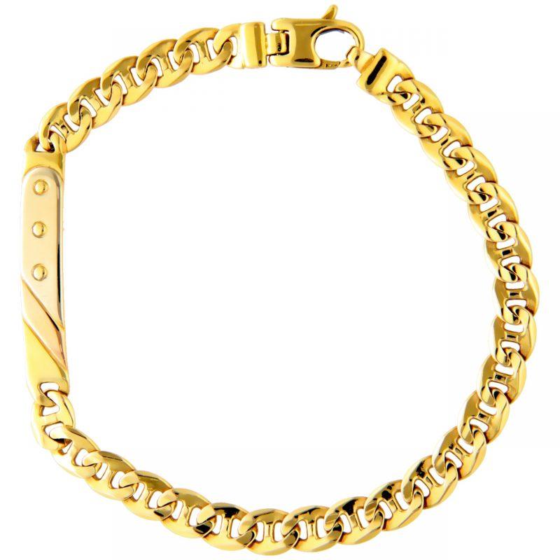 Bracelet three colour gold