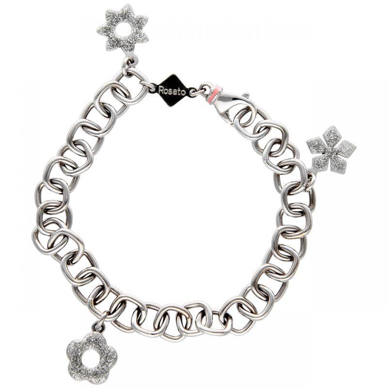 Rosato Weißgold Armband mit Charms