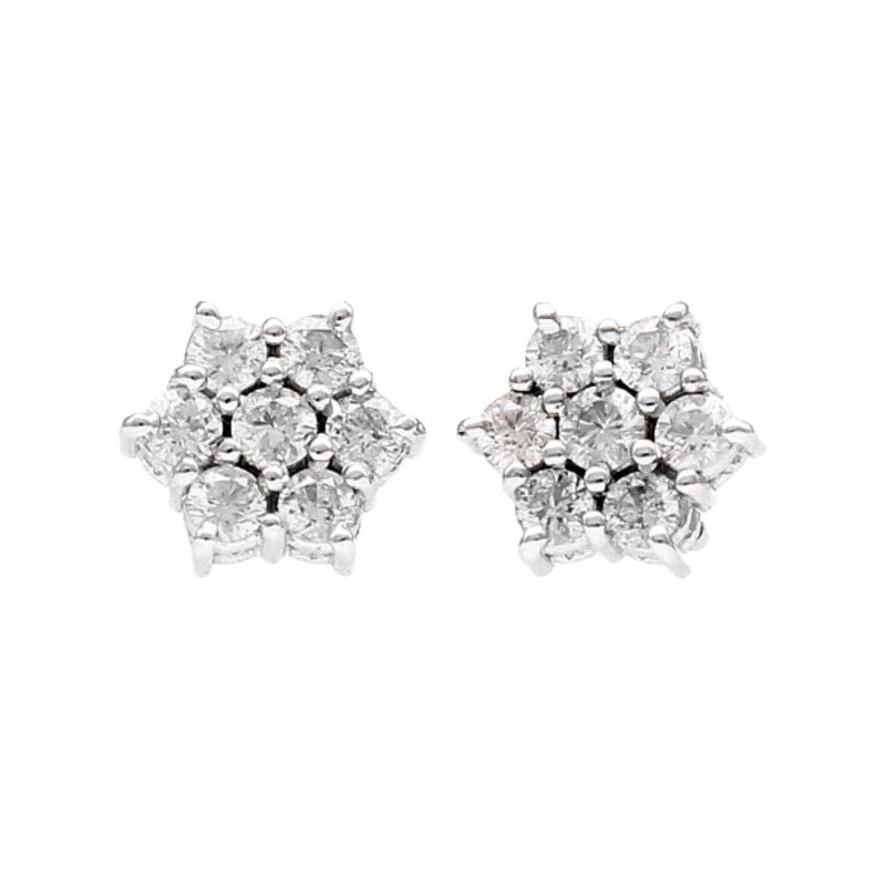 Earrings with diamond bow