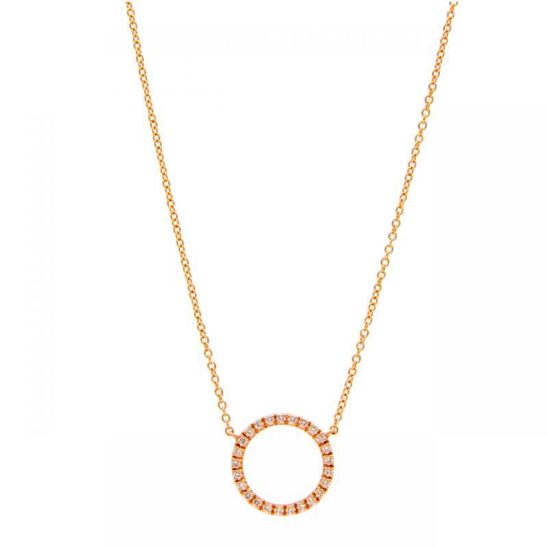 Cadena oro rosa con diamantes