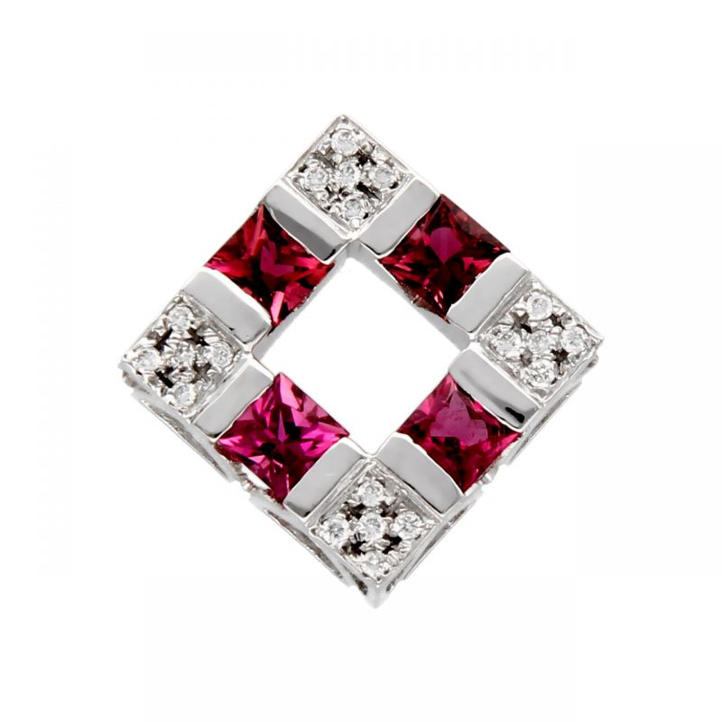 Pendant white gold with diamonds