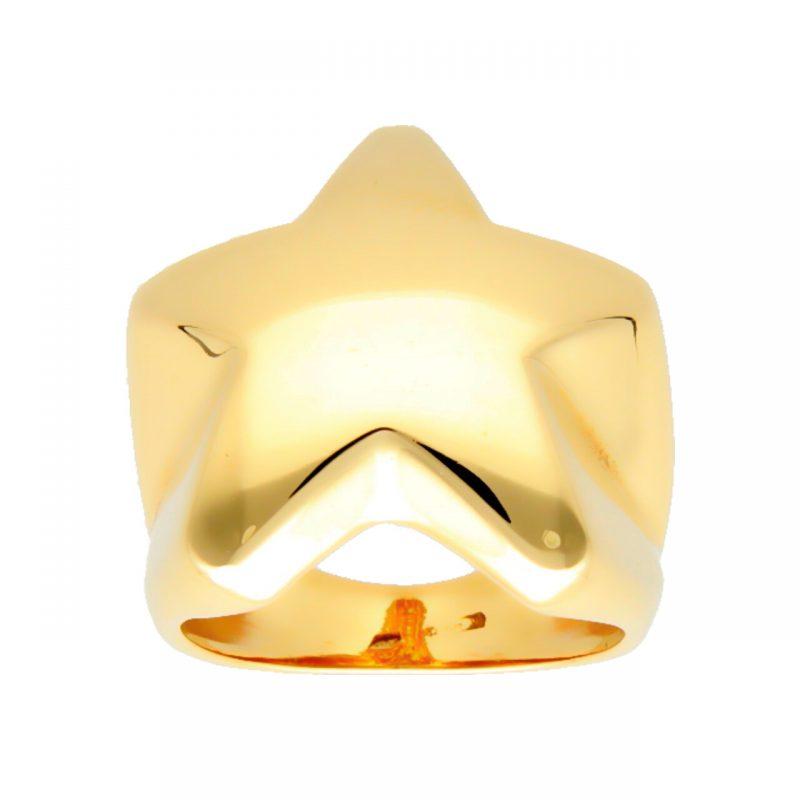 Star Ring aus Gelbgold