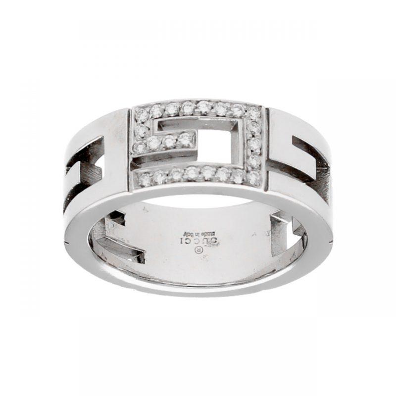 Gucci Weißgold Ring mit Diamanten