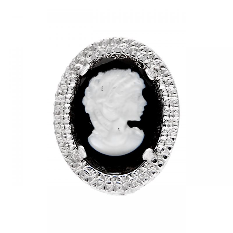 Ring cameo white gold