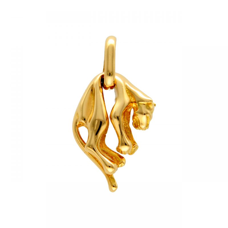 Panther Pendant yellow gold