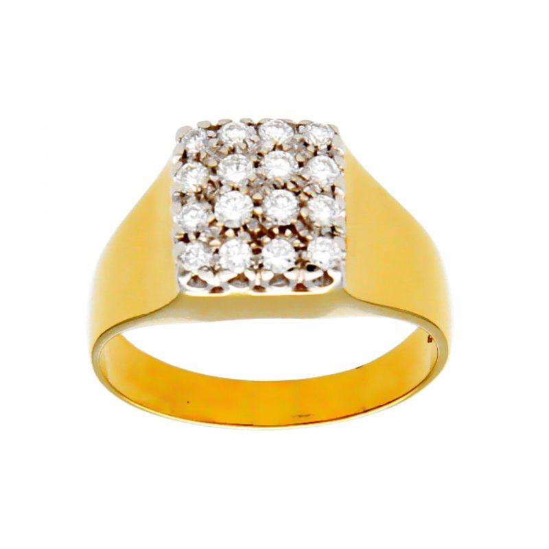 Anillo oro amarillo con diamantes