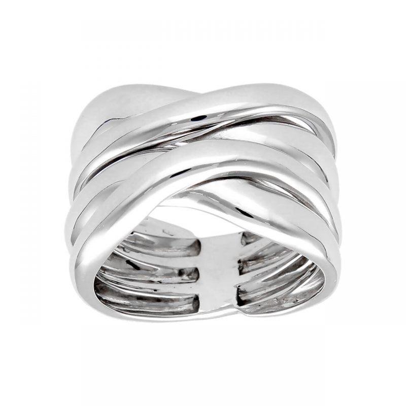 Braided ring white gold