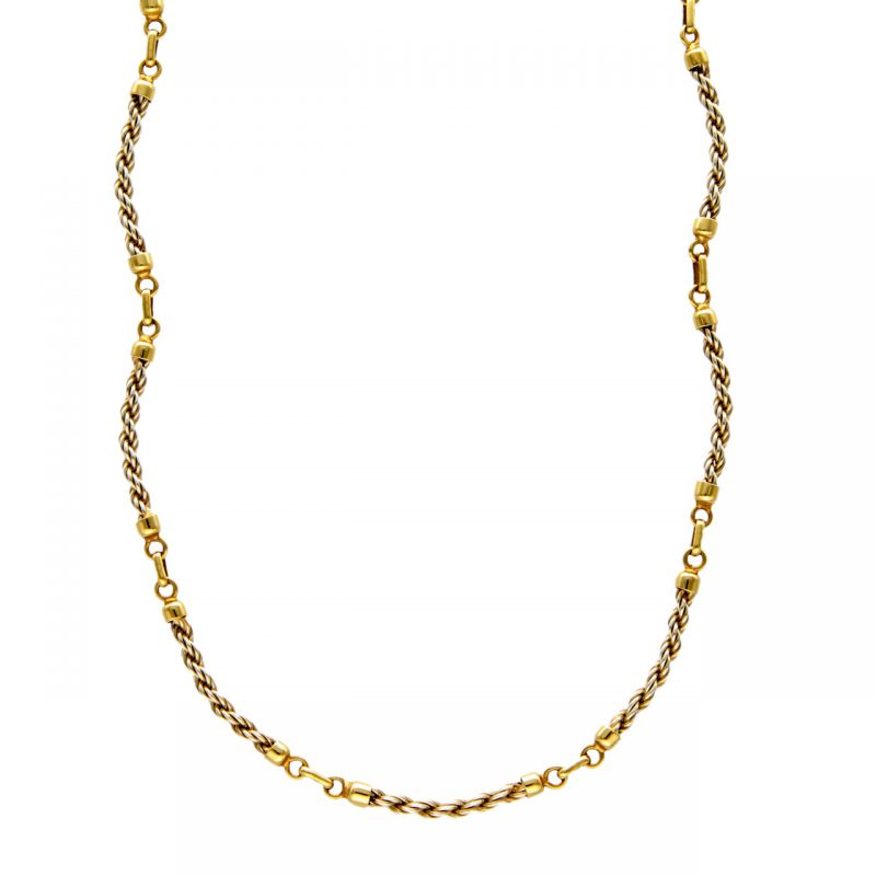 Necklace white and yellow gold
