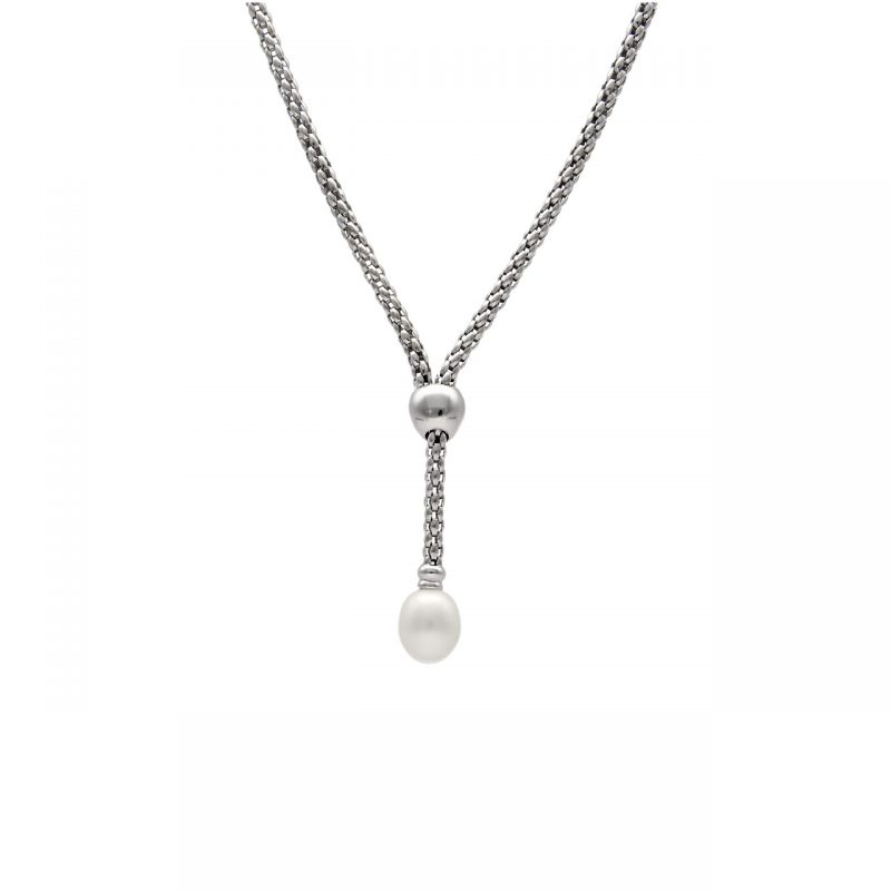 Fope necklace white gold with Pearl