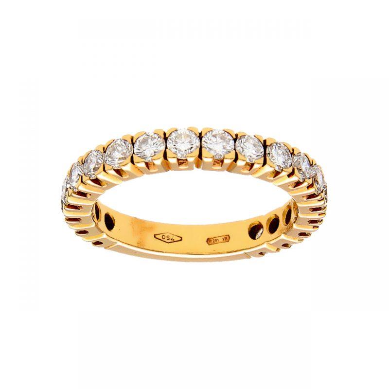 Infinity ring rose gold