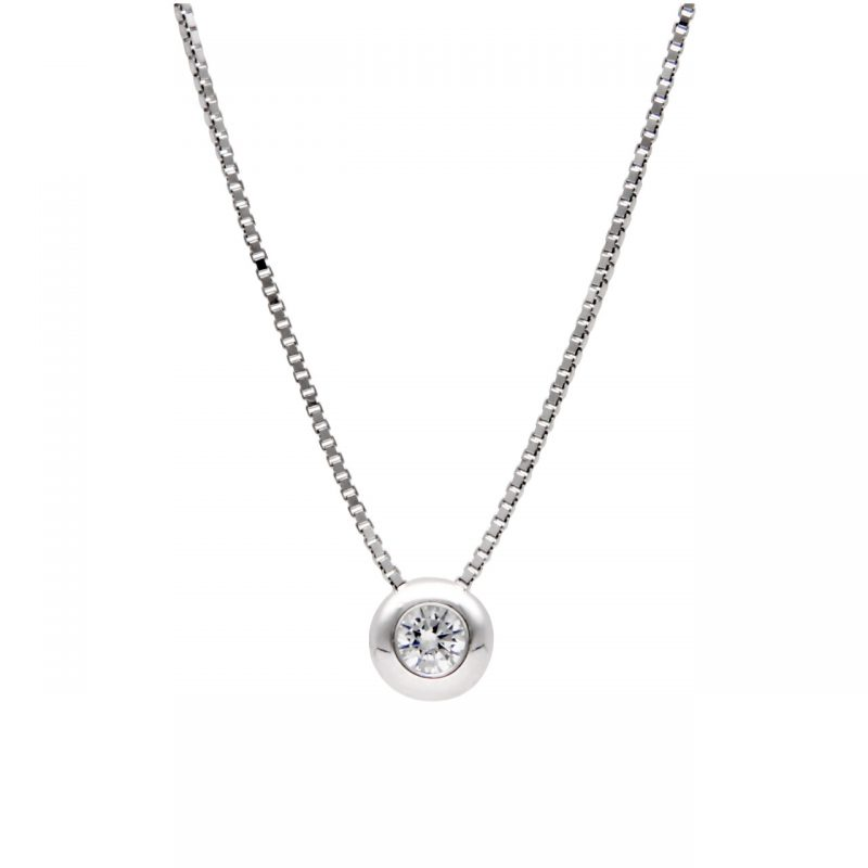 Solitarie white gold with zircon