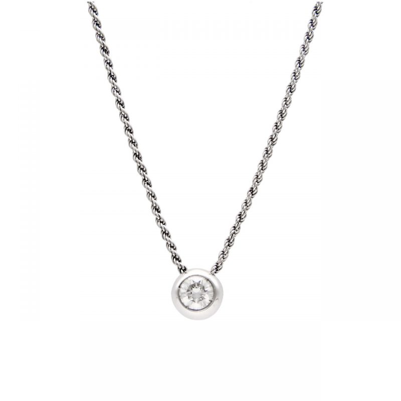 Solitarie white gold with diamond 0.50 ct