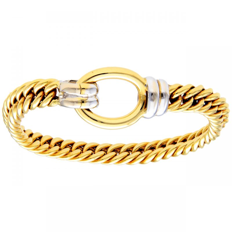 Bracelet white and yellow gold