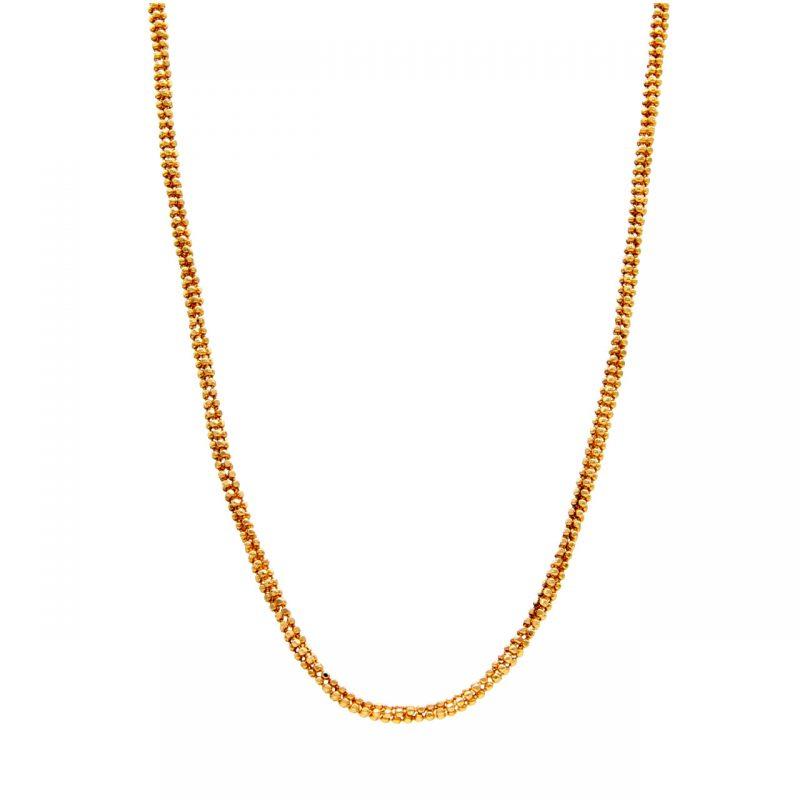 Gelbgold Halskette