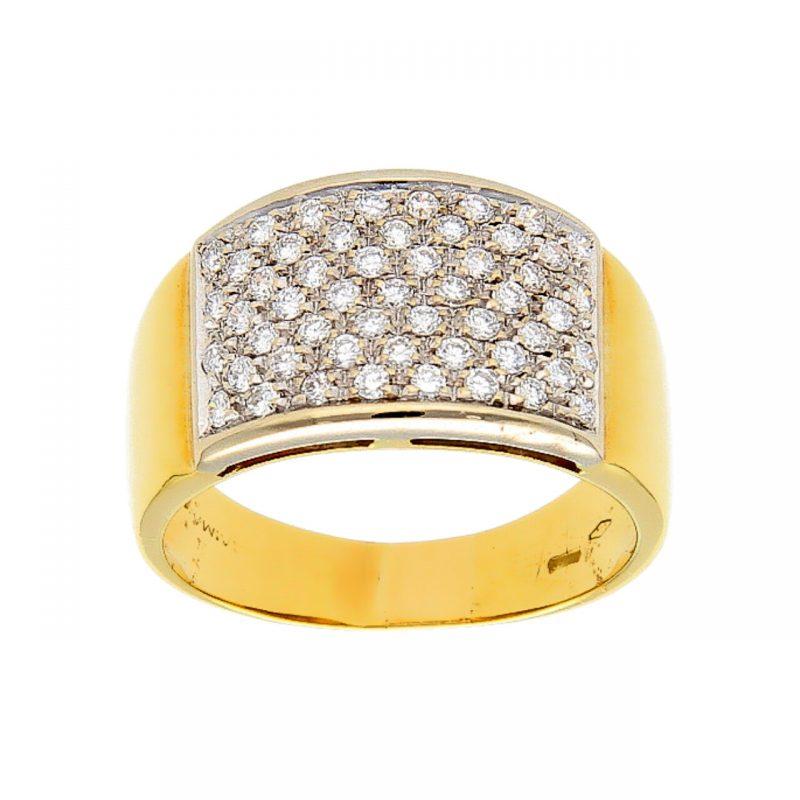 Ring aus Gelbgold mit Diamanten