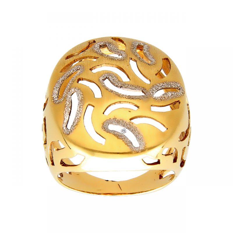 Anillo estilizado dos oros