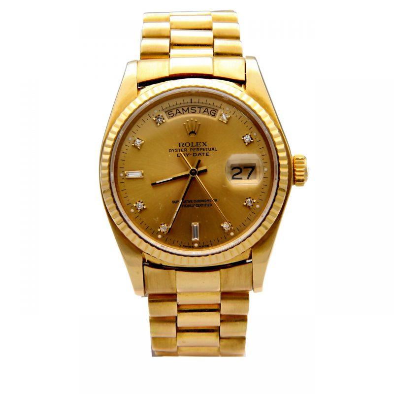 Rolex Day-Date Oro giallo e diamanti