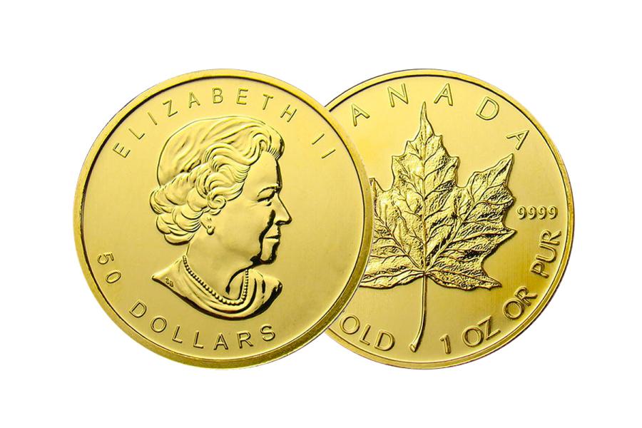 year 2020 – $ 50 Canada maple leaf 1 ounce