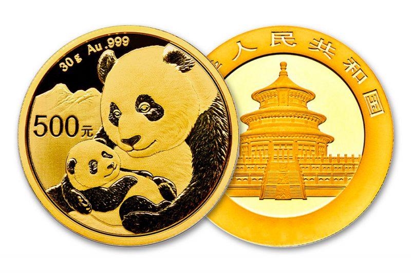 Año 2021 – ¥ 500 panda china 30gr