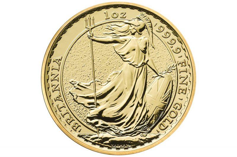 Año 2021 – £ 100 onza oro BRITANIA