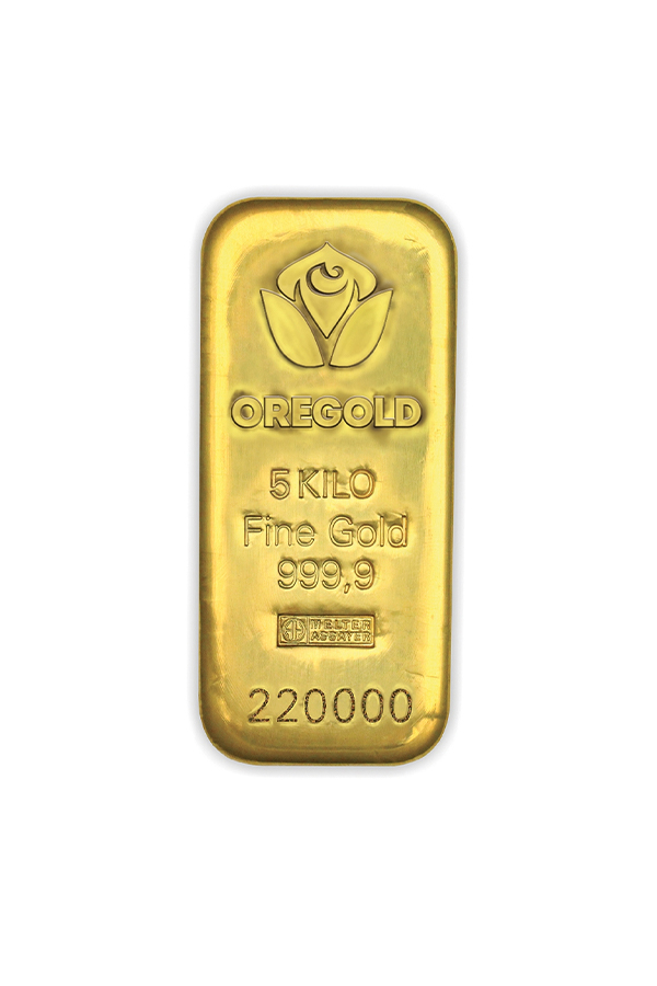 Gold bar 5000 gr. ARGOR HERAEUS