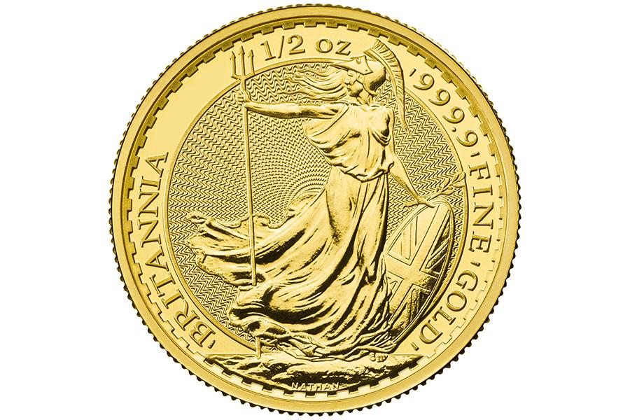 Year 2021 – £ 50  1/2 gold ounce BRITANNIA