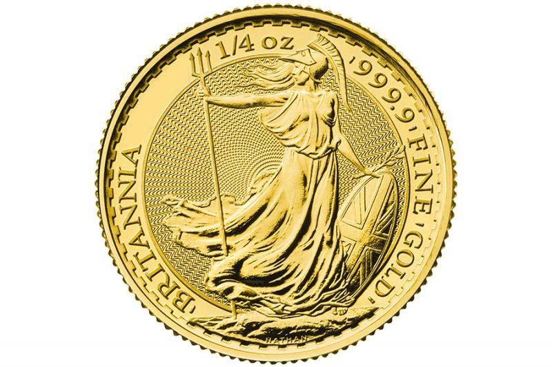 Años Cuño mixtos – £ 25 1/4 onza oro BRITANIA
