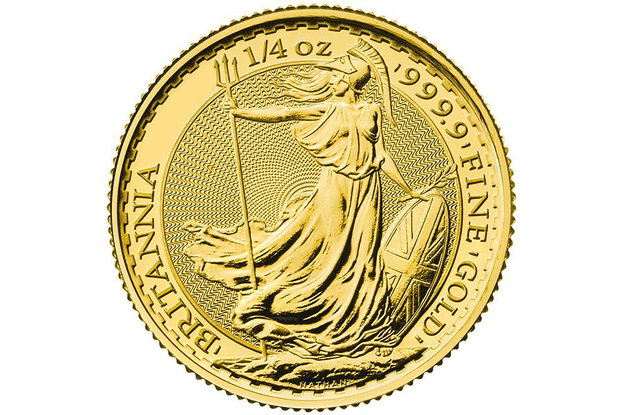 Anni Conio Misti - £ 25   1/4 Oncia d'Oro BRITANNIA