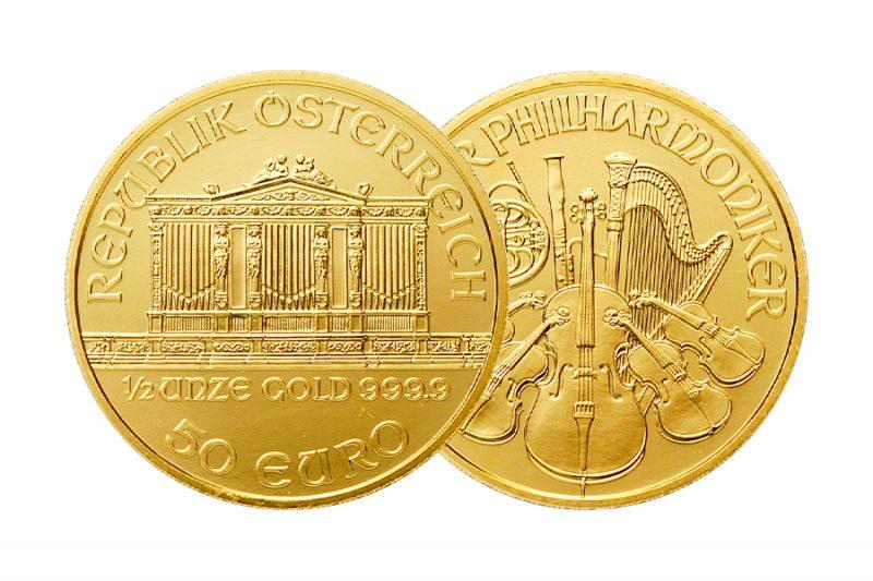 Mixed year Coin – $ 50 Philharmonic Australia 1/2 ounce