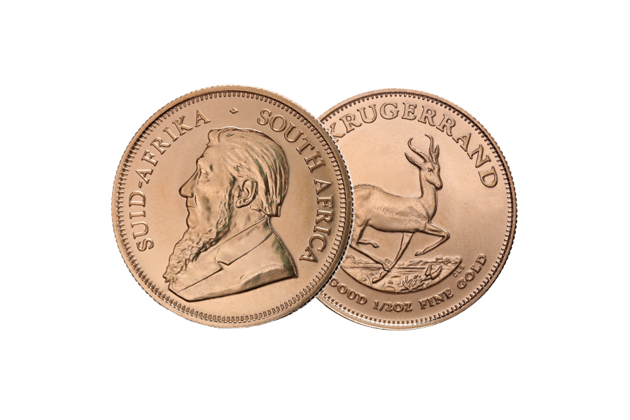 Mixed year Coin – Krugerrand  South Africa 1/2 ounce