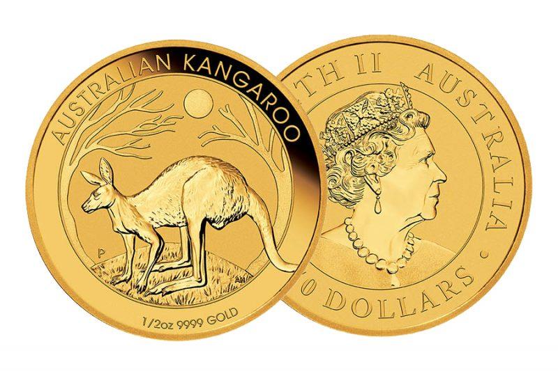 Mixed year Coin – $ 50 Golden kangaroo Australia 1/2 ounce