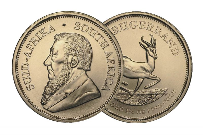 Mixed year Coin – Krugerrand  South Africa 1/4 ounce