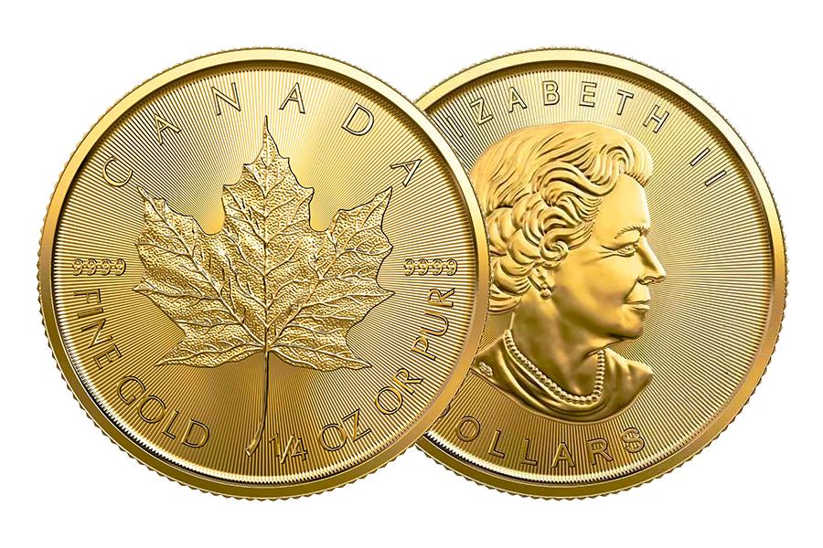 Gemischte Jahre – $ 10 Kanada Ahornblatt 1/4 Unze