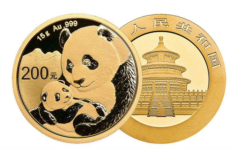 Años Cuño mixtos – ¥ 200 panda china 15gr