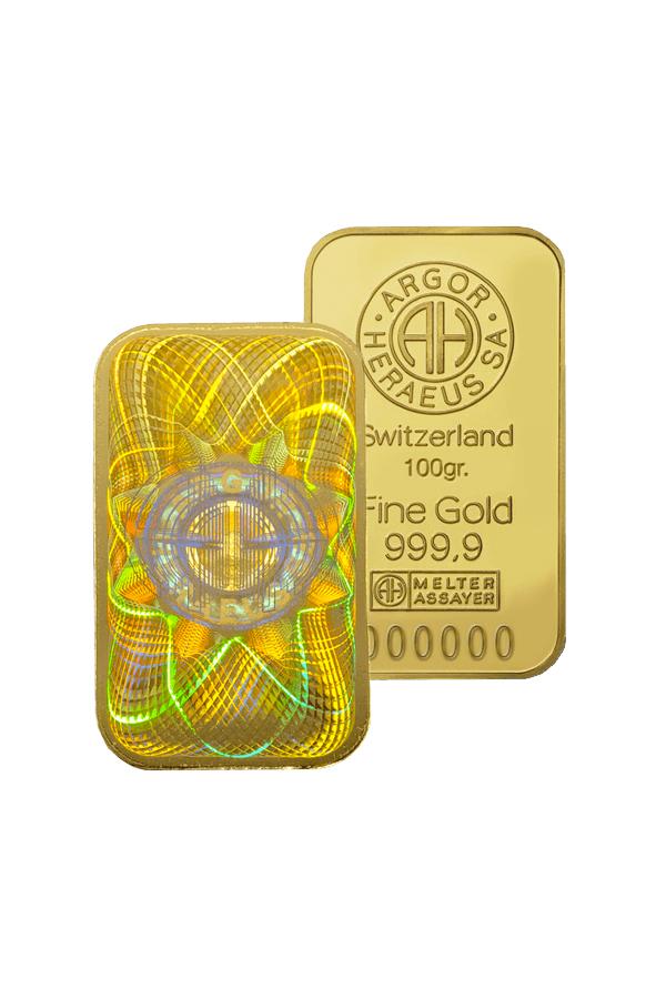 Gold bar 100 gr. ARGOR KINEBAR®