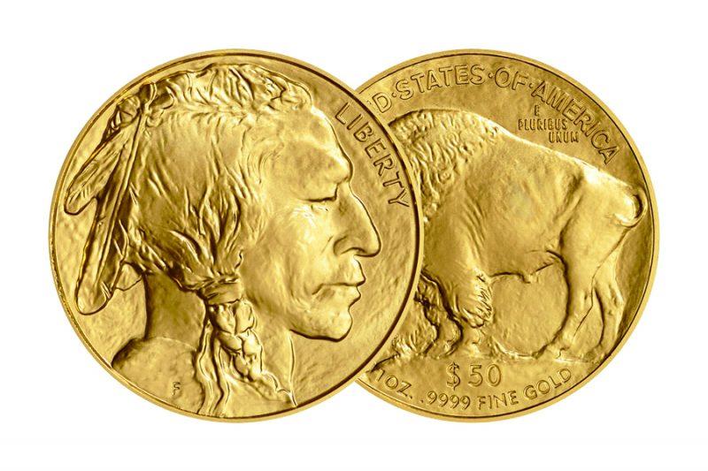 Year 2020 – $ 50 Buffalo indian U.S.A. 1 ounce
