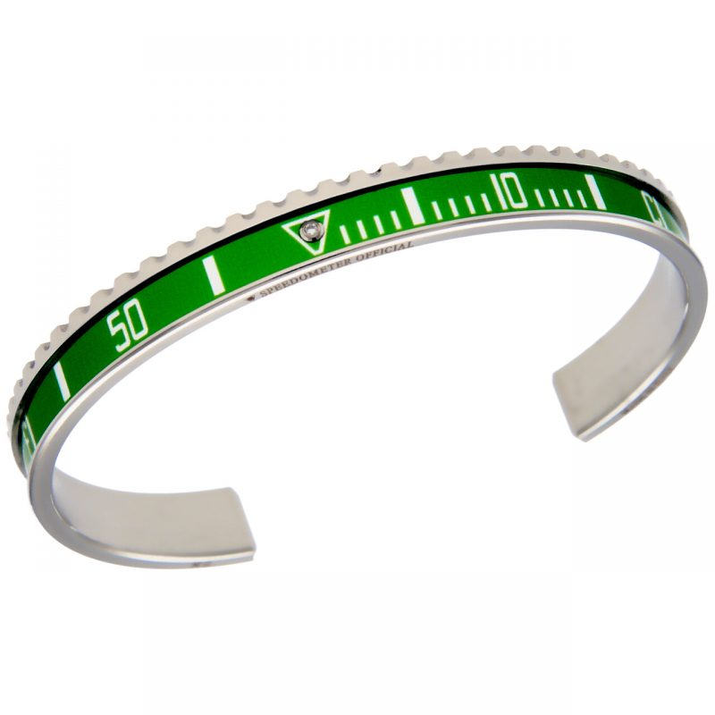 Steel ghiera green con diamante
