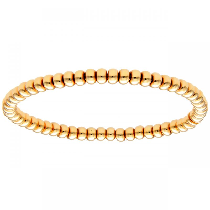 Bracciale elastico in oro giallo