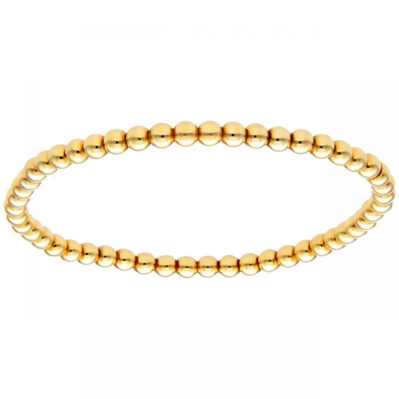 Bracciale oro giallo elastico