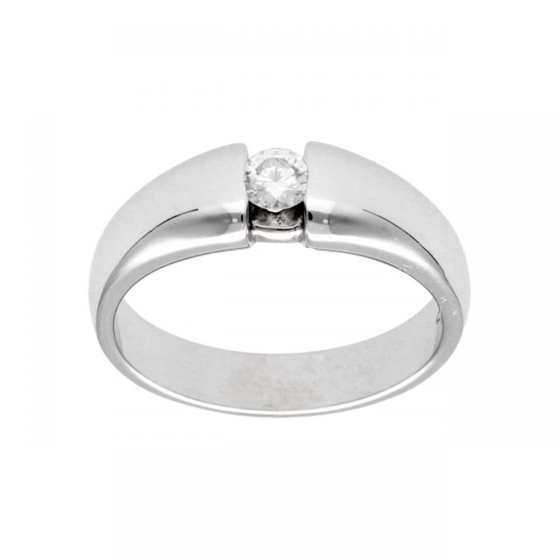 White gold ring with Natural Diamond 0,30 ct
