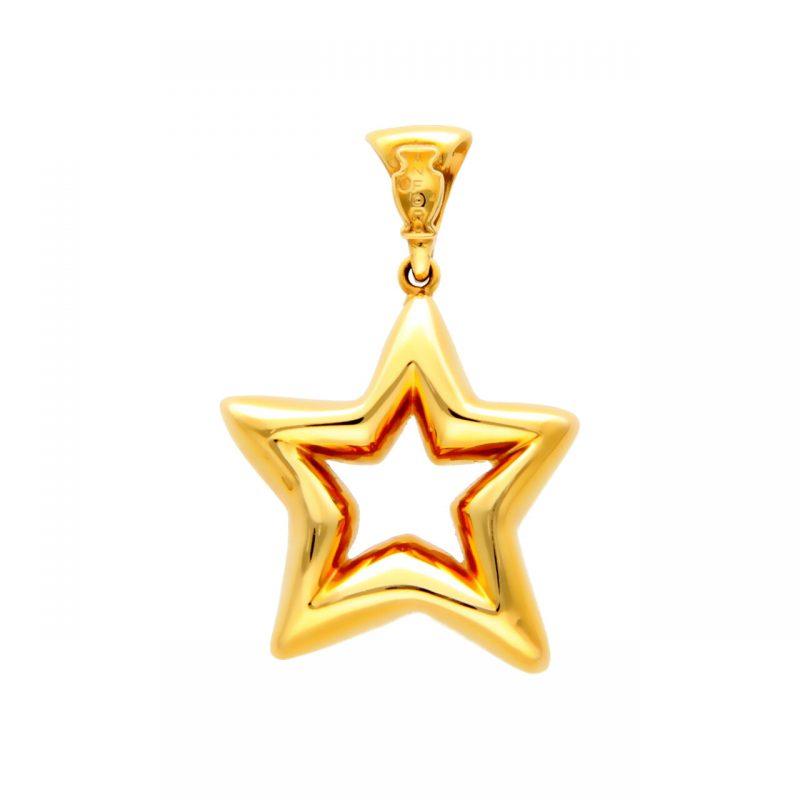 Anfora star pendant yellow gold