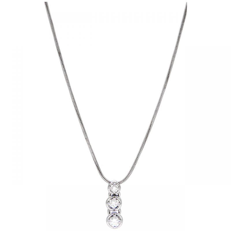 Damiani Halskette aus Weißgold mit Diamanten
