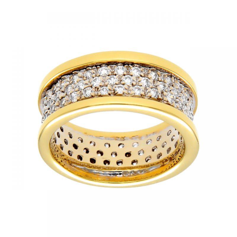 Gelbgold Ring mit Zirkonen